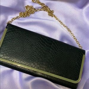 Aldo Women's Black & Gold Clutch Purse